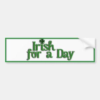 Irlandês para uma imagem do texto do dia adesivos