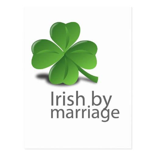 Irlandês pelo design do casamento cartoes postais