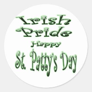 Irlandês Pride3 Adesivo Em Formato Redondo