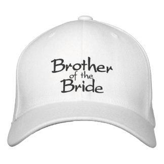Irmão do boné bordado na moda da noiva