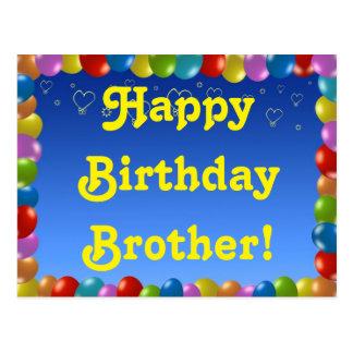 Irmão do feliz aniversario do cartão cartão postal