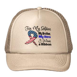 Irmão - meu soldado, minha fita patriótica do heró bonés