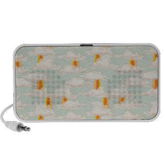 irradie a hortelã & o produto de creme alaranjado  caixinhas de som para notebook