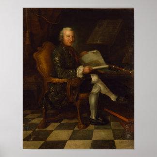 Isaac Egmont von Chasot em sua mesa, 1750 Poster