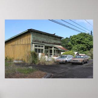 Isand Loja-Grande abandonado de Havaí Posteres