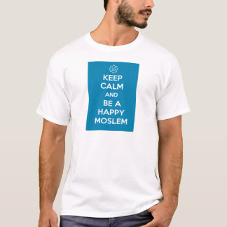 Islâmico mantenha a expressão calma do slogan camiseta