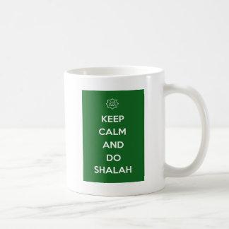 Islâmico mantenha a expressão calma do slogan caneca de café