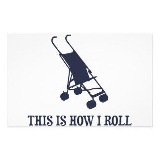 Isto é como eu rolo o carrinho de criança de bebê papel personalizados
