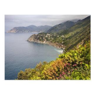 Italia. Área de caminhada litoral entre as vilas Cartão Postal