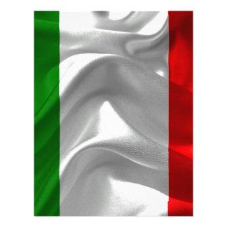 Italia-Bandeira Papel Timbrado