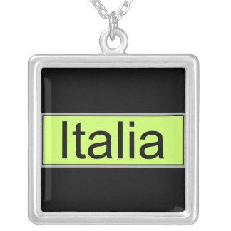 Italia Colar Com Pendente Quadrado