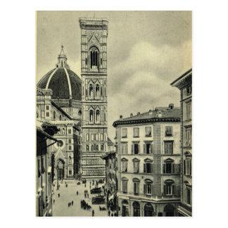 Italia, Florença, Firenze, 1908, domo Cartão Postal