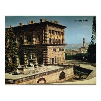 Italia, Florença, Firenze, 1908, Palazzo Pitti, Cartão Postal