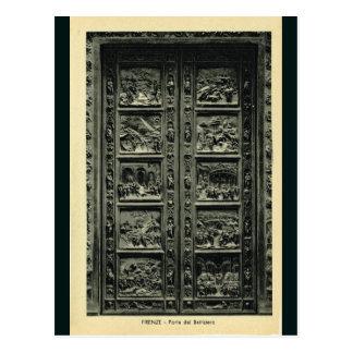 Italia, Florença, Firenze, 1908, portas de Cartão Postal