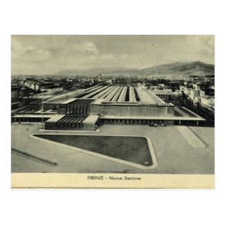 Italia, Florença, Firenze, estação de caminhos-de- Cartão Postal
