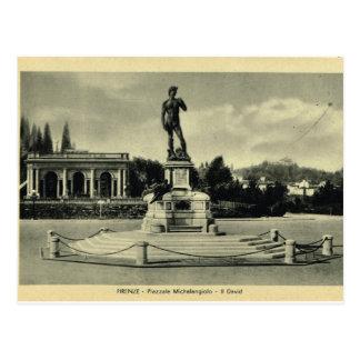 Italia, Florença, Piazzale Michelangelo, David Cartão Postal