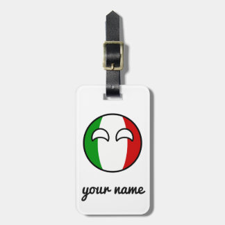 Italia Geeky de tensão engraçada Countryball Etiqueta De Bagagem