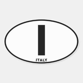 Italia mim iniciais ovais do código de adesivo oval
