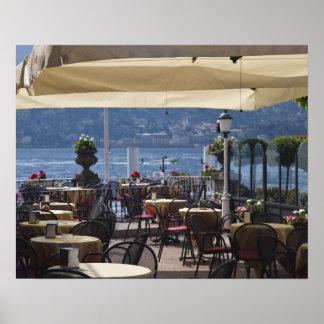 Italia província de Como Bellagio Café da beira Pôsteres