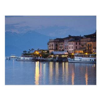 Italia, província de Como, Bellagio. Opinião da Cartão Postal