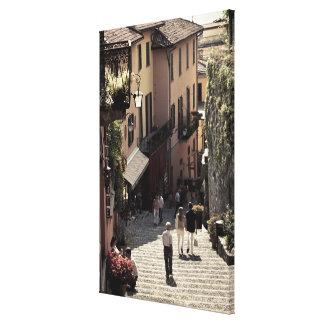 Italia, província de Como, Bellagio. Salita 2 Impressão De Canvas Esticada