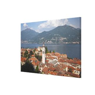 Italia, província de Como, Menaggio. Opinião da ci Impressão Em Canvas