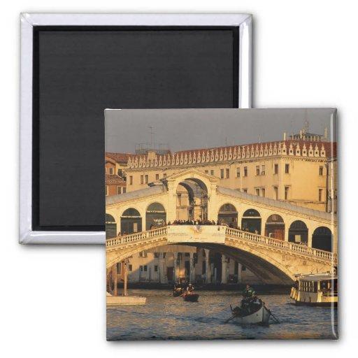 Italia, Vêneto, Veneza, canal grandioso e Rialto Imã De Refrigerador
