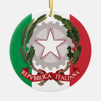 Italiana Ornamento De Cerâmica Redondo