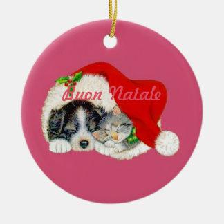 Italiano dos enfeites de natal de Buon Natale