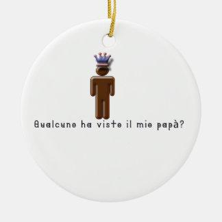 Italiano-Pai Ornamento De Cerâmica Redondo