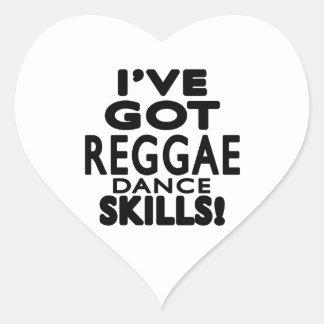 I've obteve habilidades da dança da reggae adesivo de coração