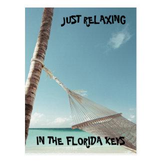 j0423125, APENAS RELAXANDO, NAS CHAVES de FLORIDA Cartão Postal