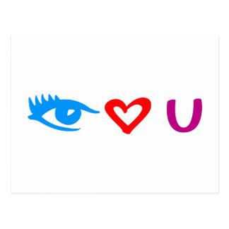 j eye love you cartão postal