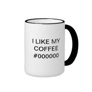 J LIKE MY COFFEE -000000 - Mug for de desenhador d Caneca Com Contorno