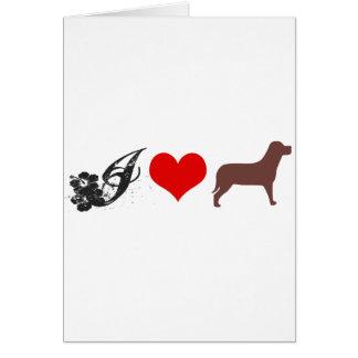 J LOVE DOGS CARTÃO
