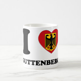 J LOVE GUTTENBERG 3D CANECA DE CAFÉ