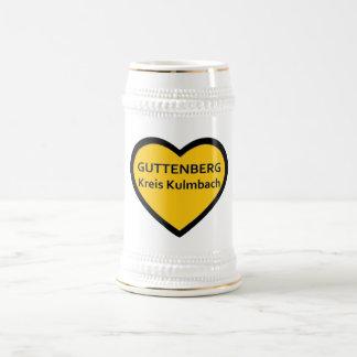 J Love Guttenberg círculo Kulmbach Caneca De Cerveja