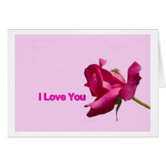 J Love You Card Cartão Comemorativo