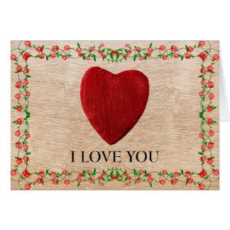 J love you cartão comemorativo
