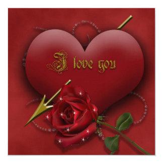 J Love You Convite Quadrado 13.35 X 13.35cm