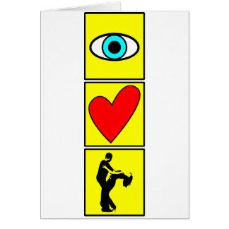 j love zouk/dance cartão de nota