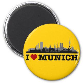 J München love cidade Skyline - íman de