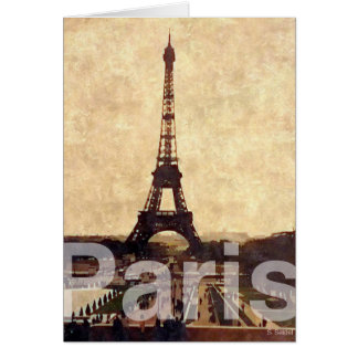 J Paris love Cartão Comemorativo