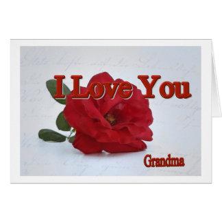 J You love Grandma Cartão