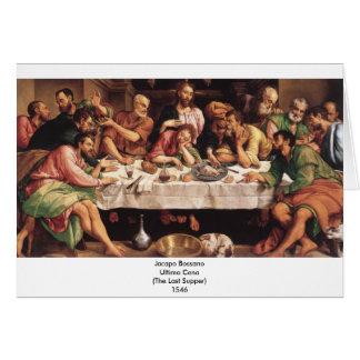 Jacapo Bossano - Ultima Cena (última ceia), 1546 Cartão De Nota