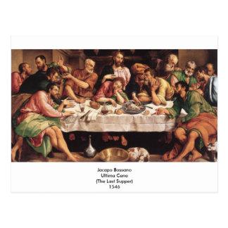 Jacapo Bossano - Ultima Cena (última ceia), 1546 Cartão Postal