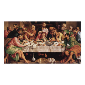 Jacapo Bossano - Ultima Cena (última ceia), 1546 Pôster
