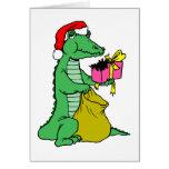 Jacaré do Natal Cartão