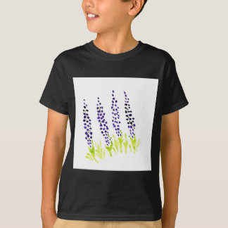Jacinto de uva do Watercolour Tshirt