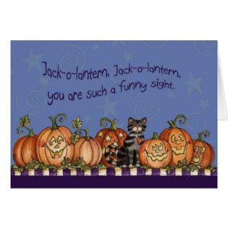 Jack-o-lanterna - cartão